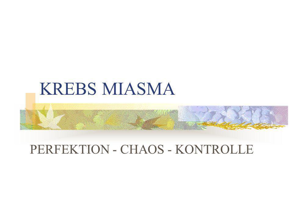 PERFEKTION - CHAOS - KONTROLLE