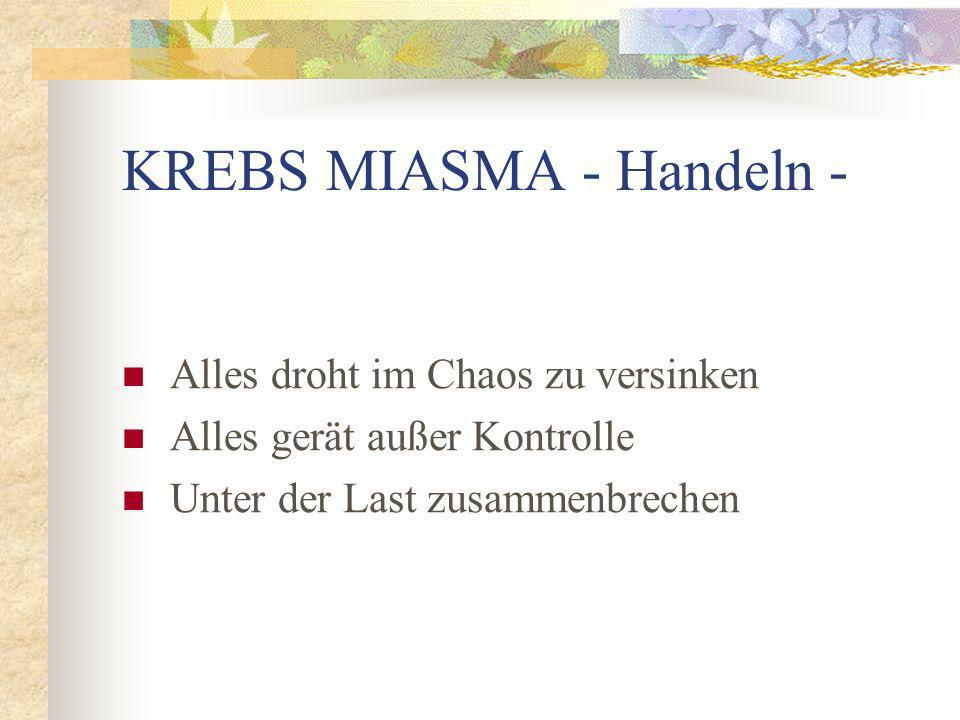 KREBS MIASMA - Handeln -