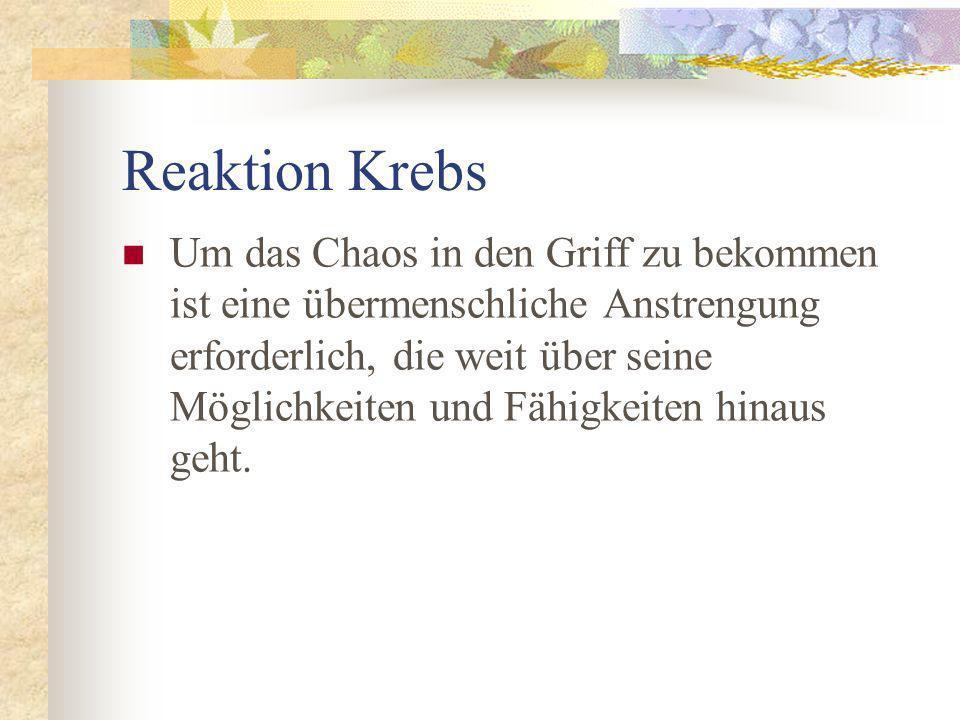 Reaktion Krebs