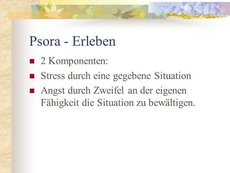 Psora - Erleben 2 Komponenten: Stress durch eine gegebene Situation