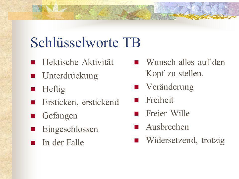 Schlüsselworte TB Hektische Aktivität Unterdrückung Heftig