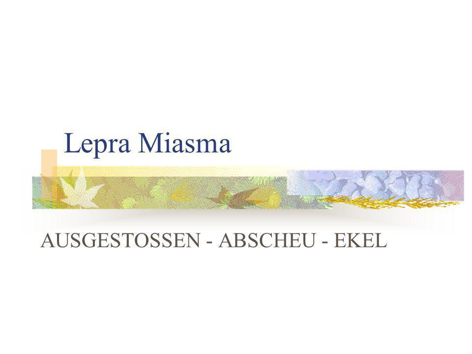 AUSGESTOSSEN - ABSCHEU - EKEL