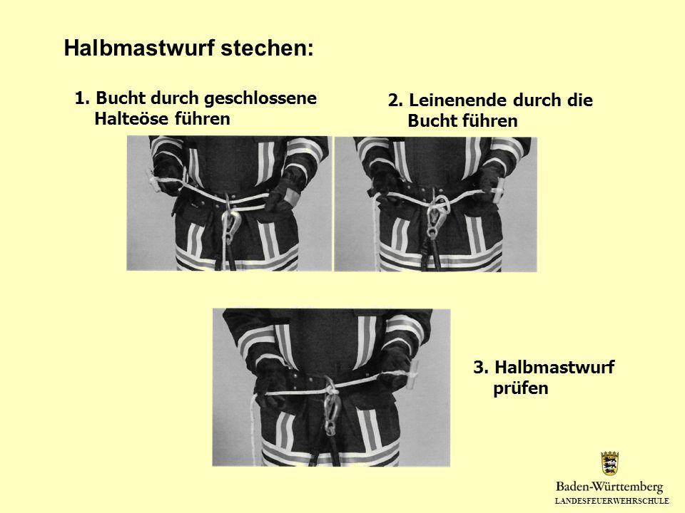 Halbmastwurf stechen: