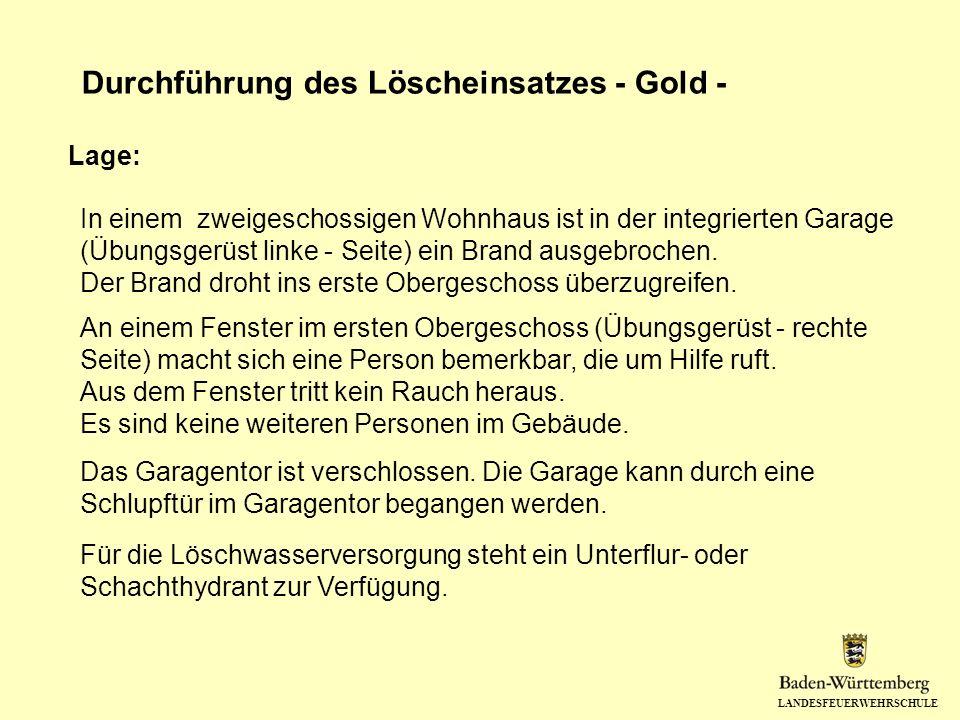 Durchführung des Löscheinsatzes - Gold -