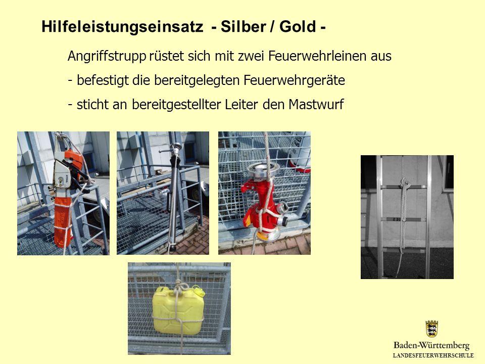 Hilfeleistungseinsatz - Silber / Gold -