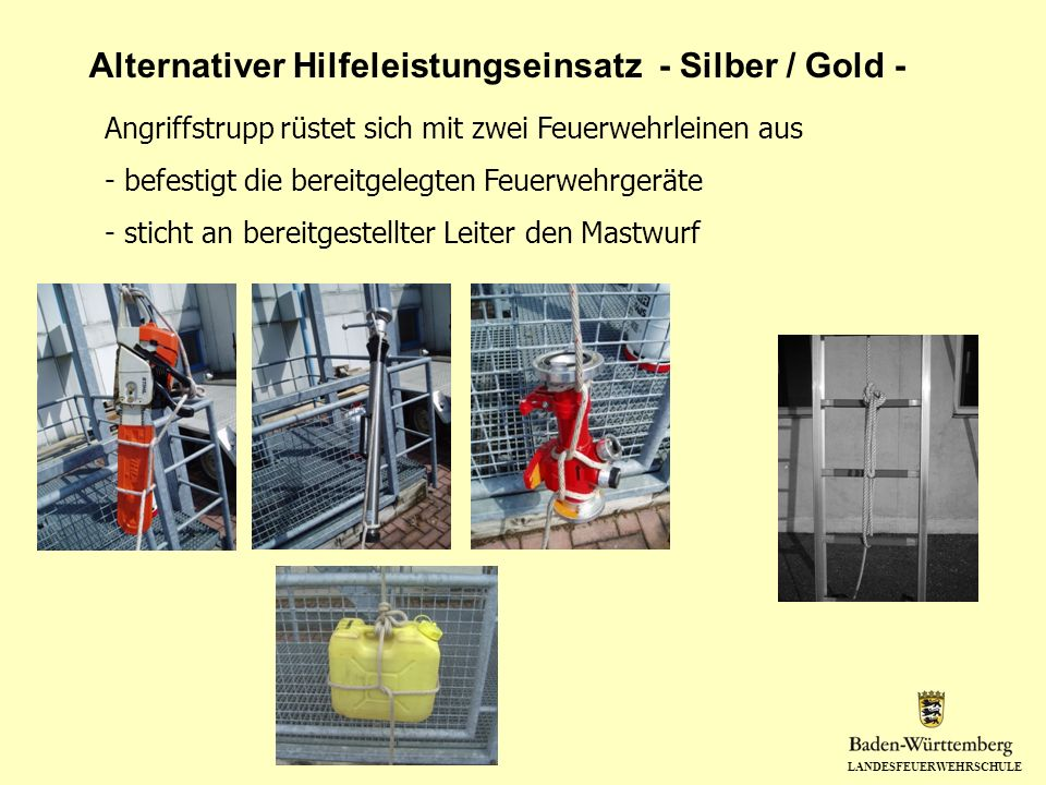 Alternativer Hilfeleistungseinsatz - Silber / Gold -