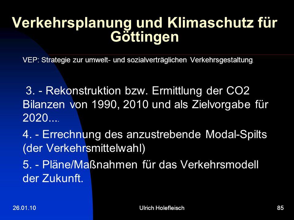 Verkehrsplanung und Klimaschutz für Göttingen