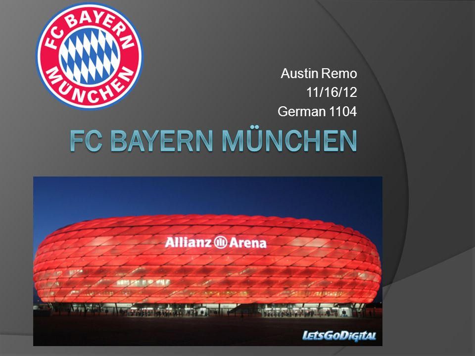Austin Remo 11/16/12 German 1104 FC Bayern München