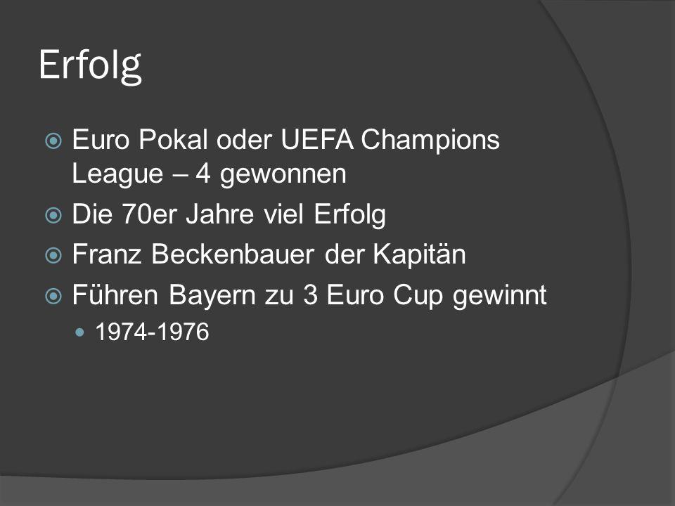 Erfolg Euro Pokal oder UEFA Champions League – 4 gewonnen