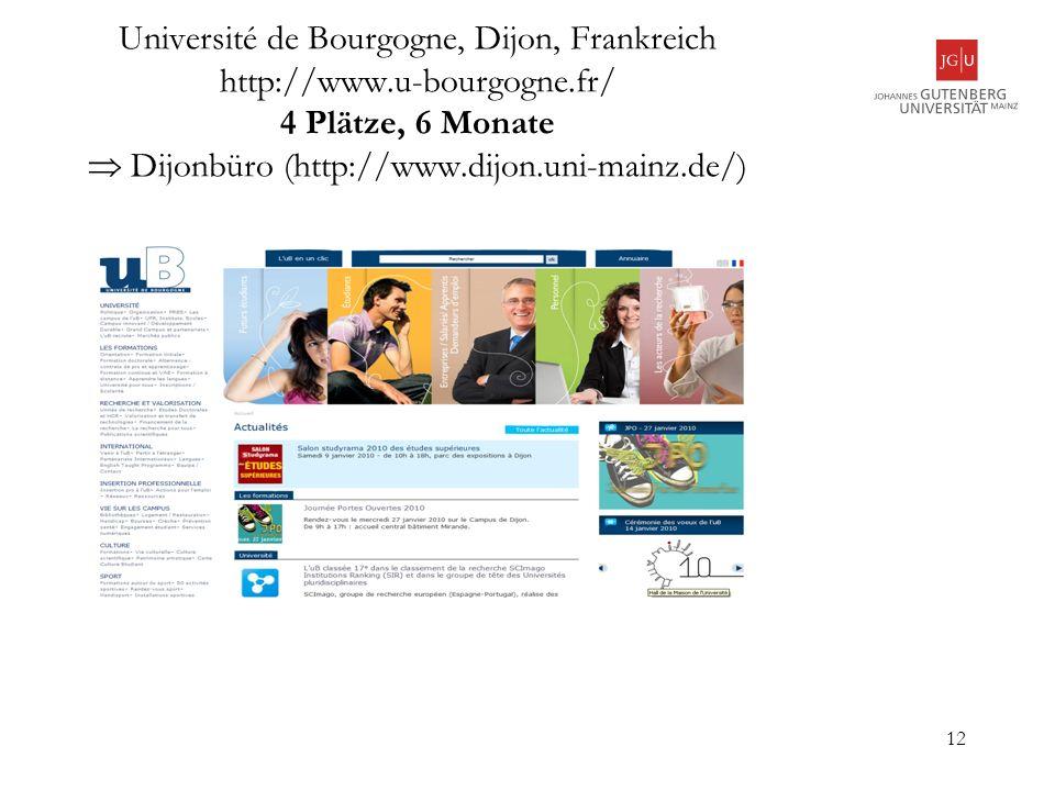 Université de Bourgogne, Dijon, Frankreich http://www. u-bourgogne