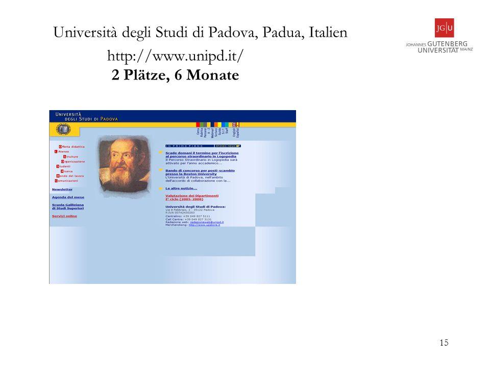 Università degli Studi di Padova, Padua, Italien http://www. unipd