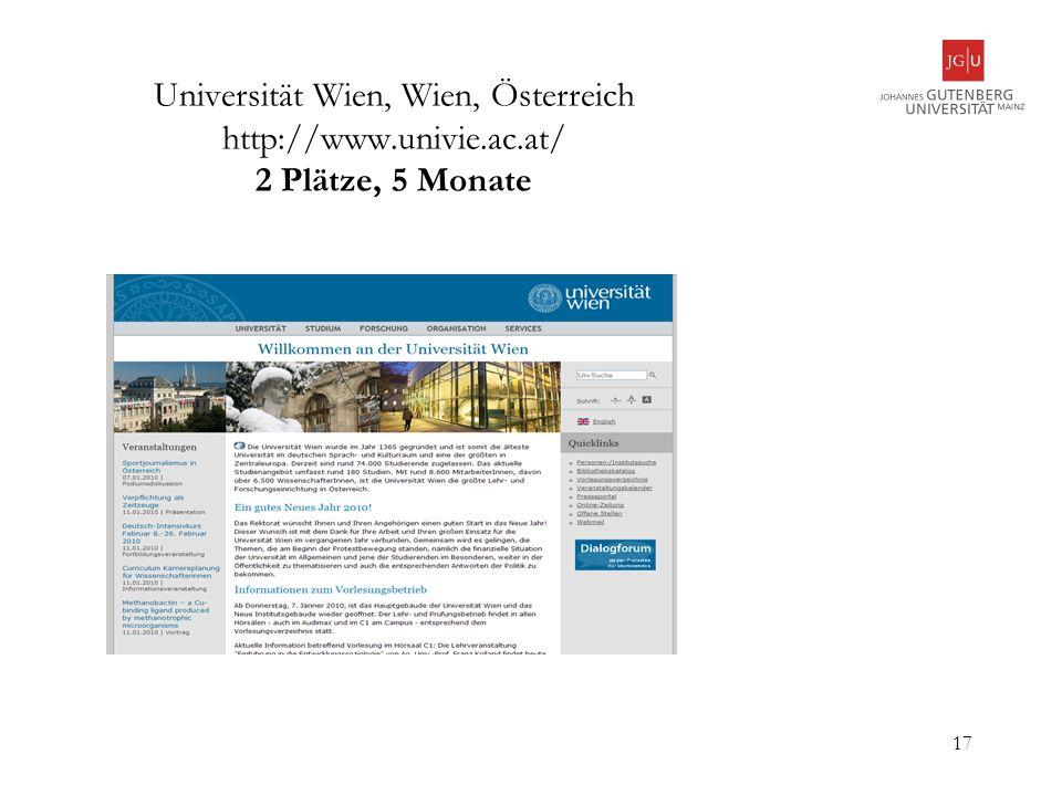 Universität Wien, Wien, Österreich http://www. univie. ac
