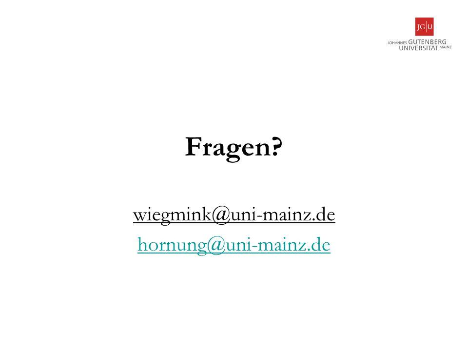 wiegmink@uni-mainz.de hornung@uni-mainz.de