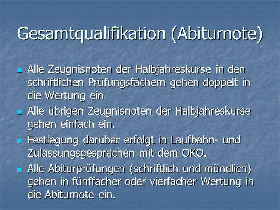 Gesamtqualifikation (Abiturnote)