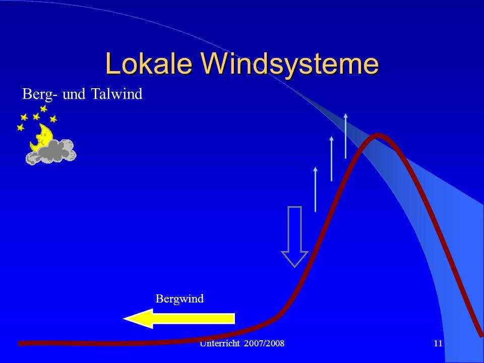 Lokale Windsysteme Berg- und Talwind Bergwind Unterricht 2007/2008