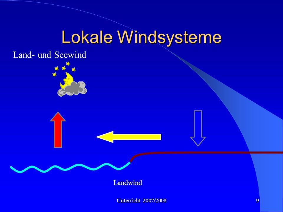 Lokale Windsysteme Land- und Seewind Landwind Unterricht 2007/2008