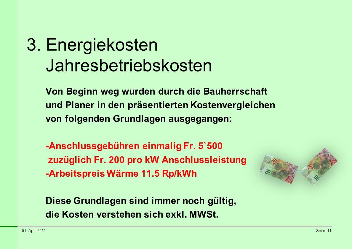 3. Energiekosten Jahresbetriebskosten