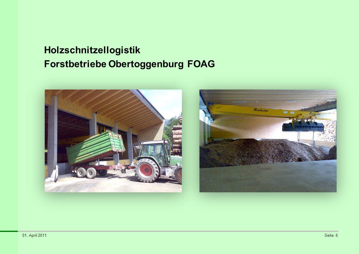 Holzschnitzellogistik Forstbetriebe Obertoggenburg FOAG