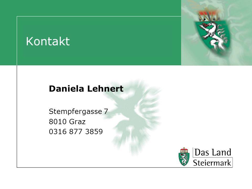 Daniela Lehnert Stempfergasse 7 8010 Graz 0316 877 3859