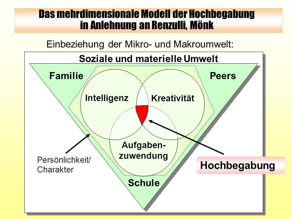 Das mehrdimensionale Modell der Hochbegabung