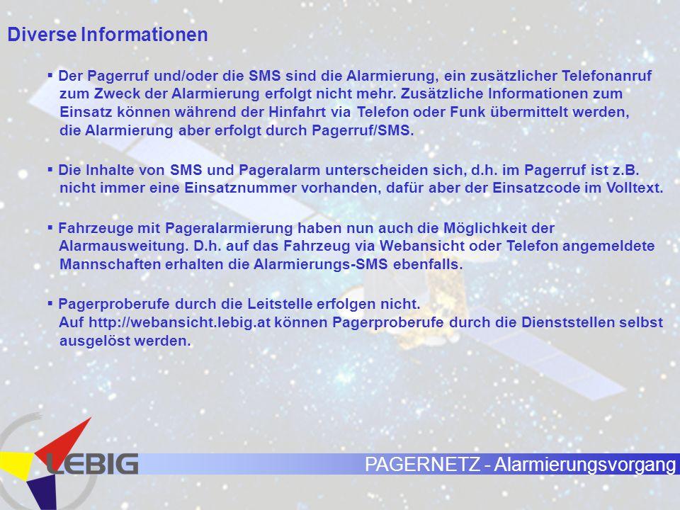 Diverse Informationen