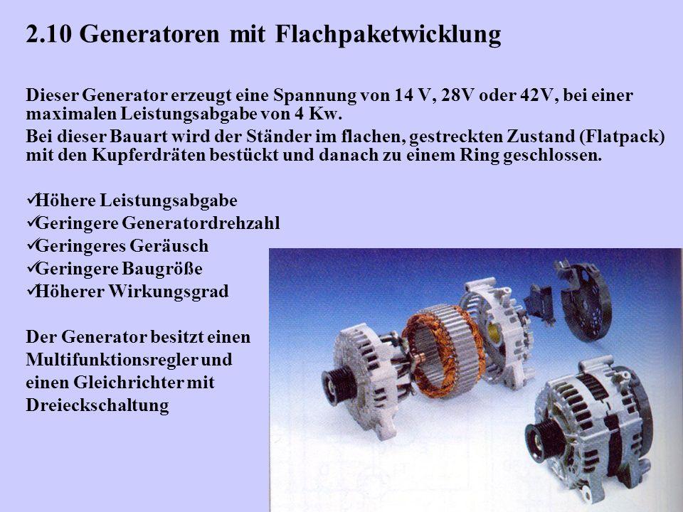 2.10 Generatoren mit Flachpaketwicklung