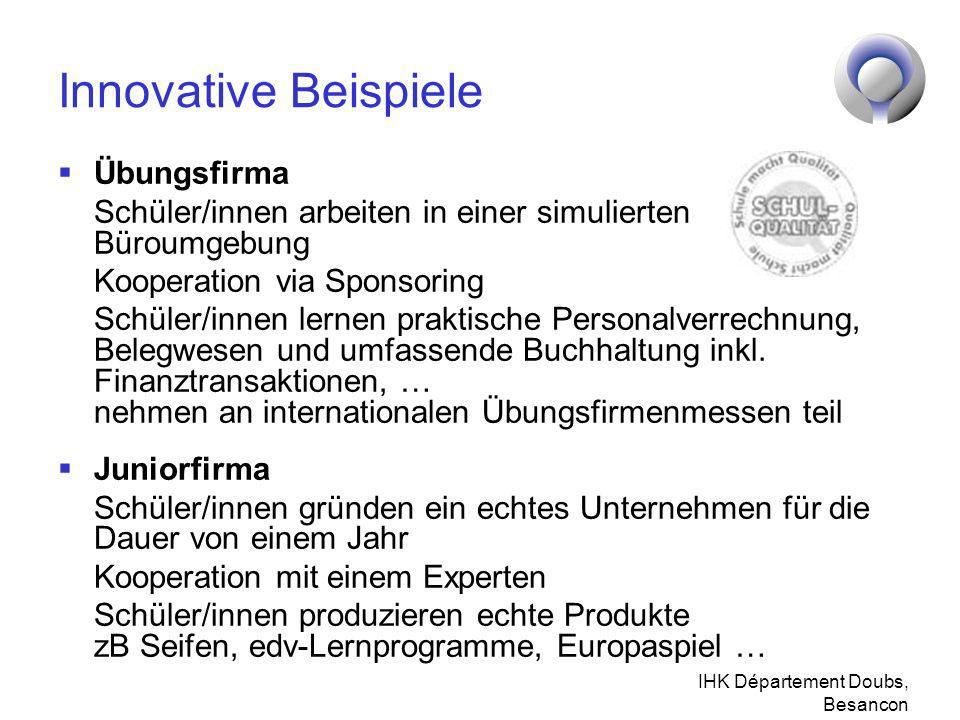Innovative Beispiele Übungsfirma