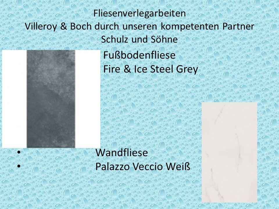 Fußbodenfliese Fire & Ice Steel Grey Wandfliese Palazzo Veccio Weiß