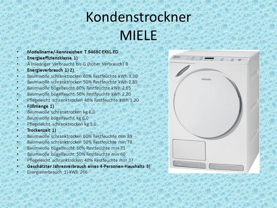 Kondenstrockner MIELE