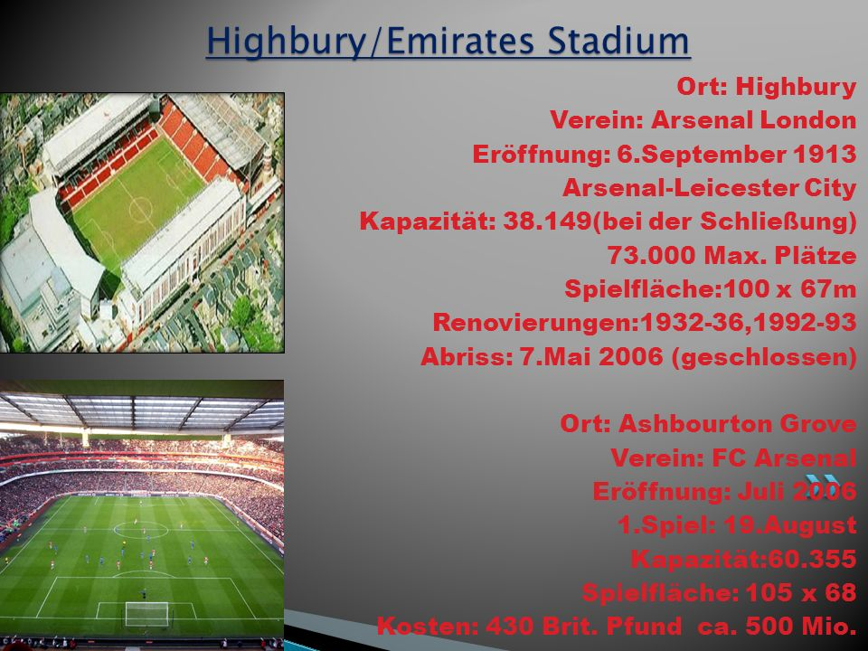 Highbury/Emirates Stadium