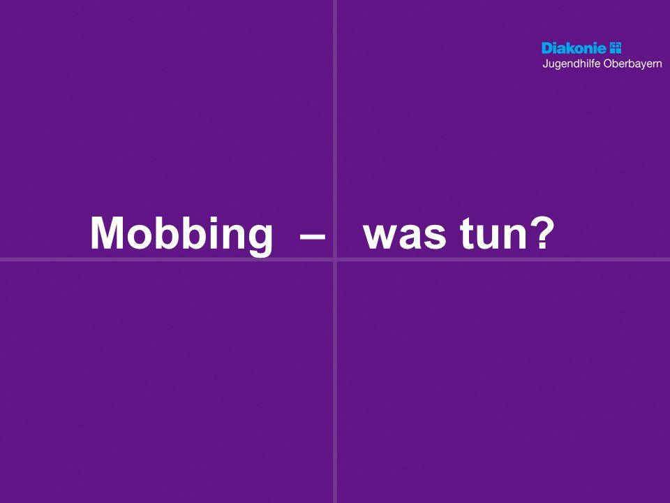 Mobbing – was tun
