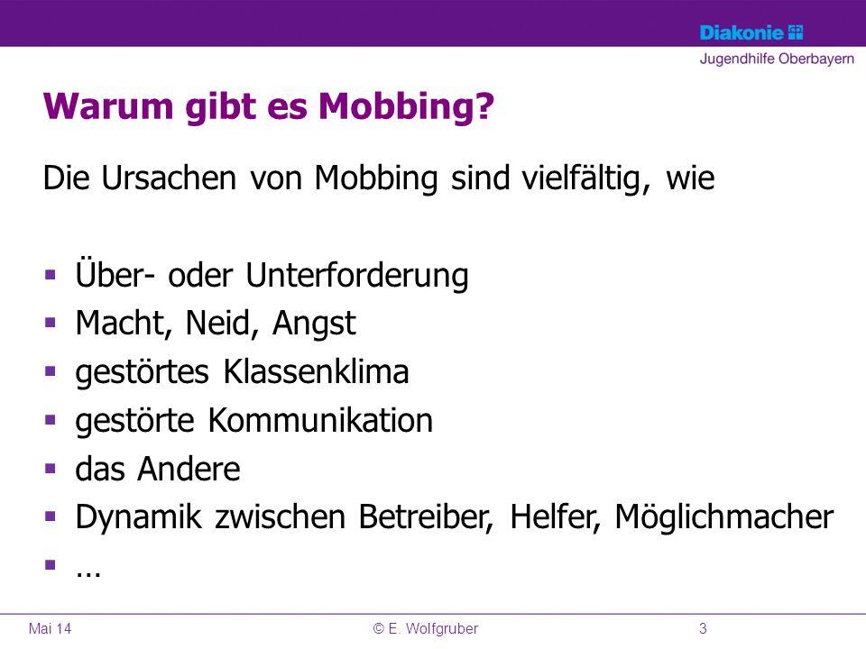 Warum gibt es Mobbing Die Ursachen von Mobbing sind vielfältig, wie