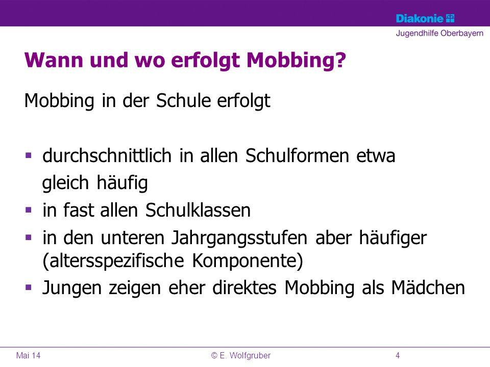 Wann und wo erfolgt Mobbing