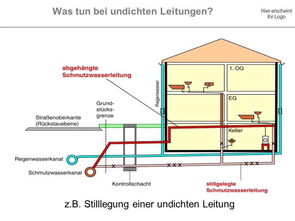 Was tun bei undichten Leitungen