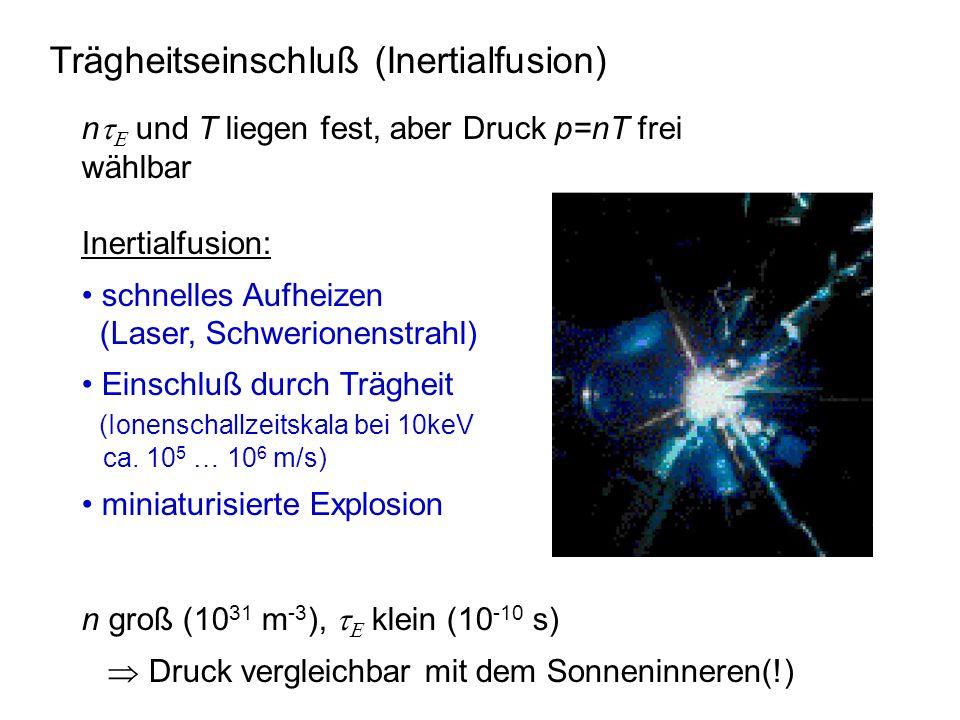 Trägheitseinschluß (Inertialfusion)