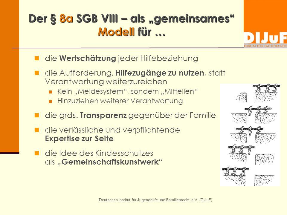 """Der § 8a SGB VIII – als """"gemeinsames Modell für …"""