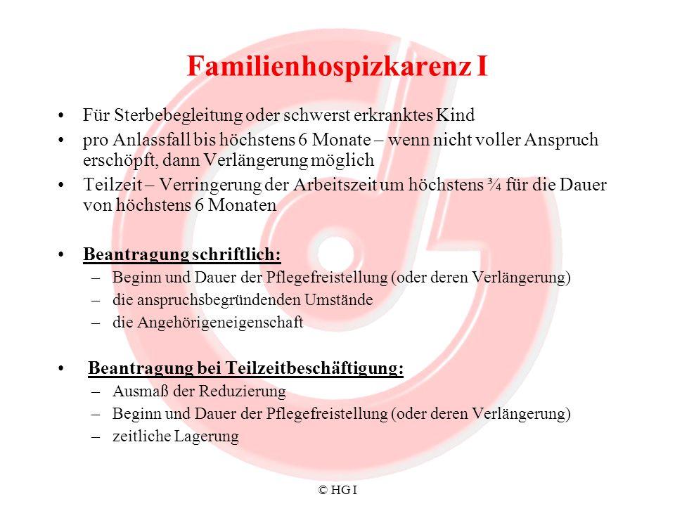 Familienhospizkarenz I