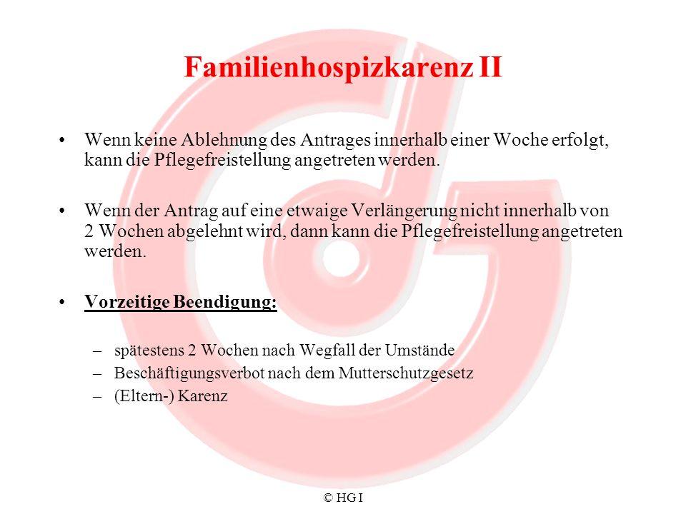 Familienhospizkarenz II