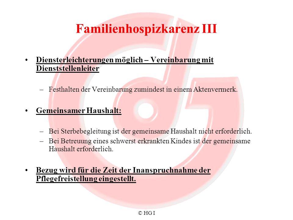 Familienhospizkarenz III
