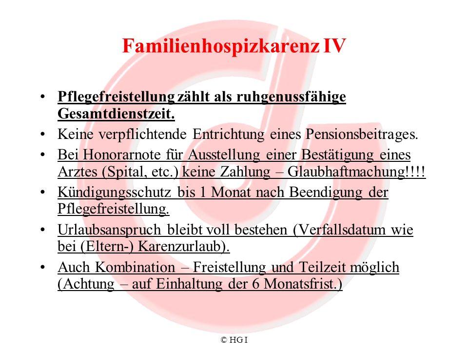Familienhospizkarenz IV
