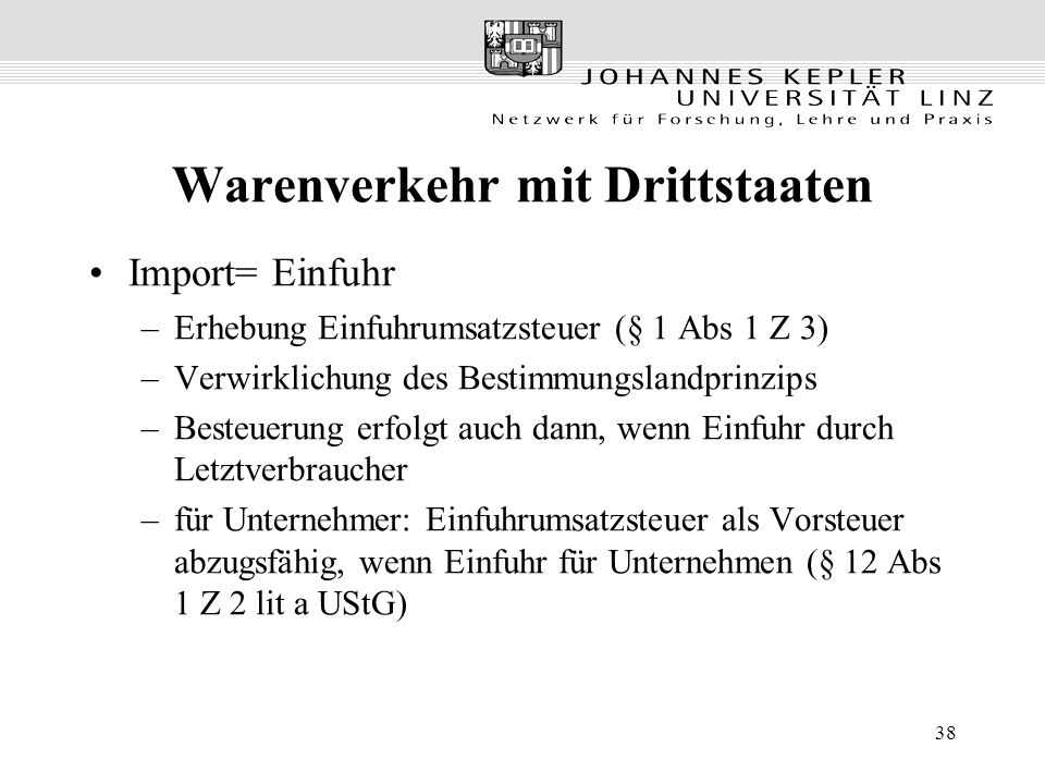 Warenverkehr mit Drittstaaten