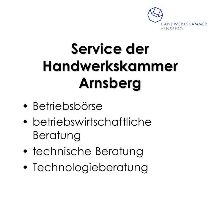 Service der Handwerkskammer Arnsberg