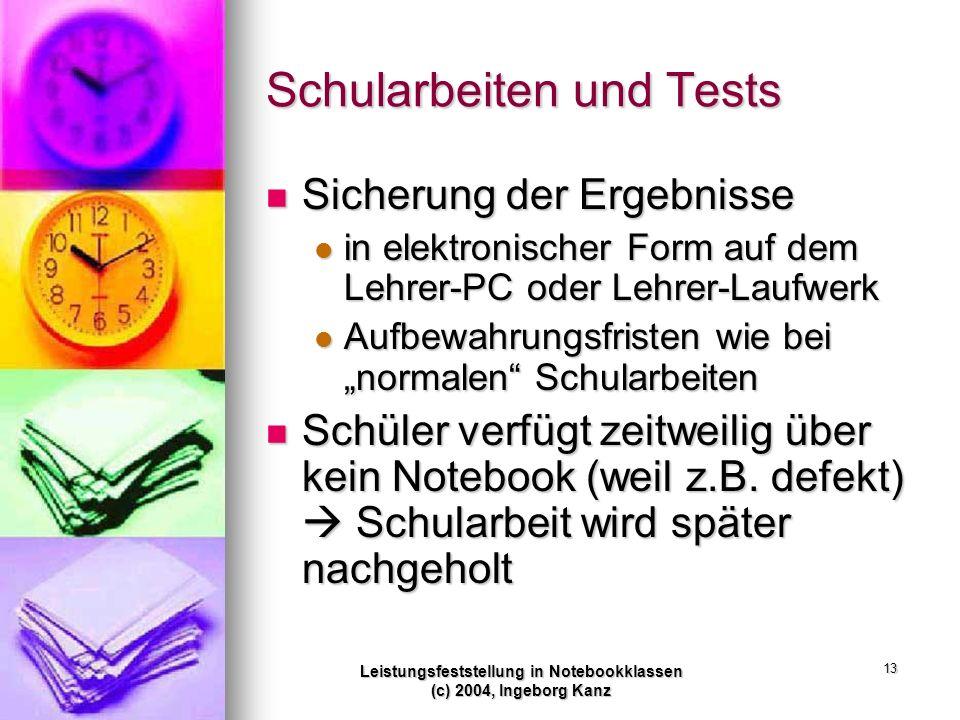Schularbeiten und Tests