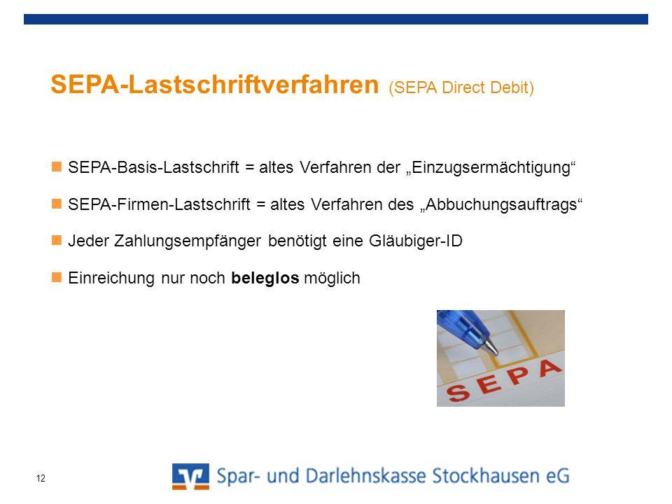 SEPA-Lastschriftverfahren (SEPA Direct Debit)