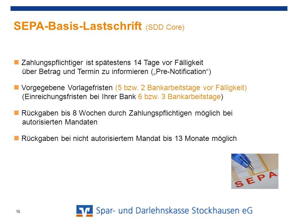 SEPA-Basis-Lastschrift (SDD Core)