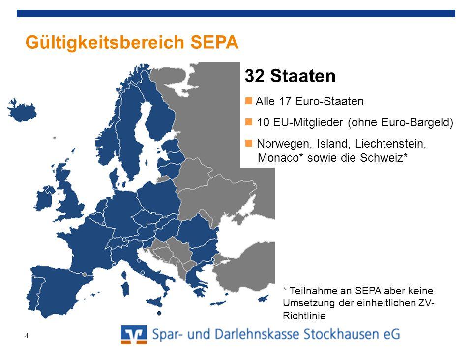 Gültigkeitsbereich SEPA