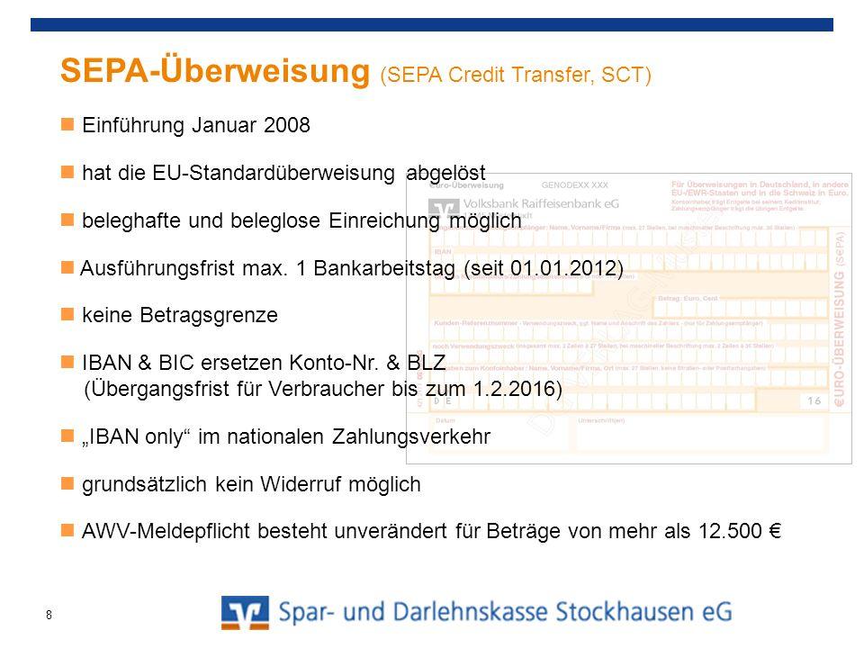 SEPA-Überweisung (SEPA Credit Transfer, SCT)