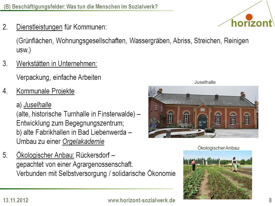 13.11.2012 www.horizont-sozialwerk.de 8