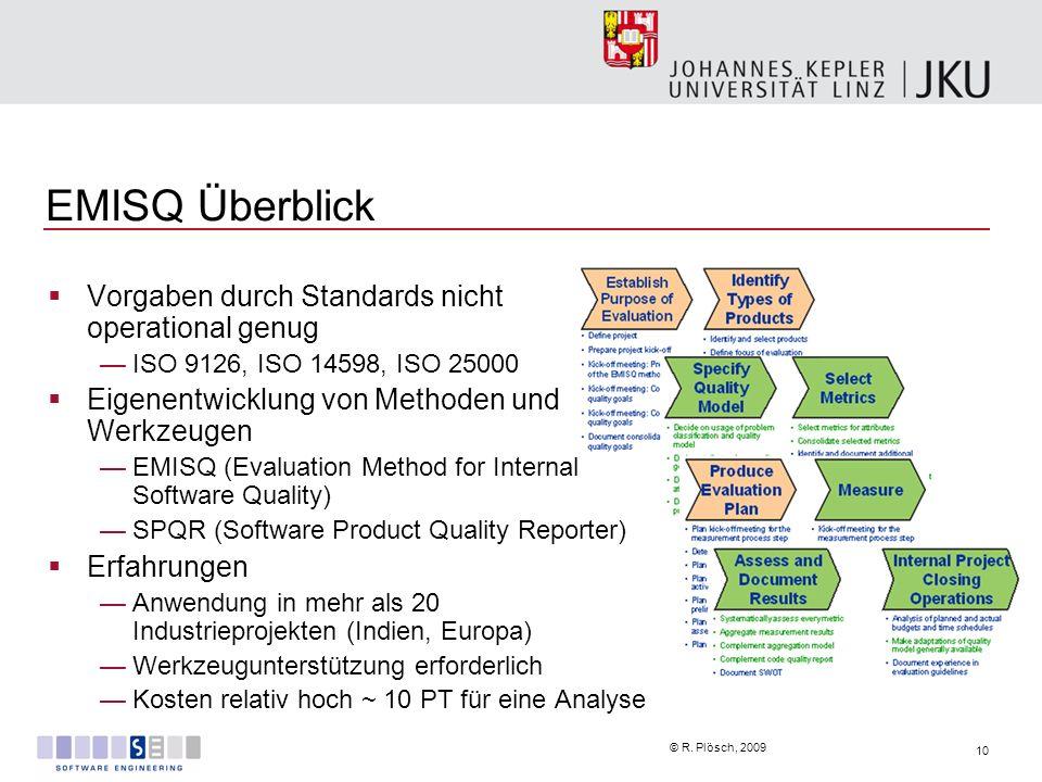 EMISQ Überblick Vorgaben durch Standards nicht operational genug