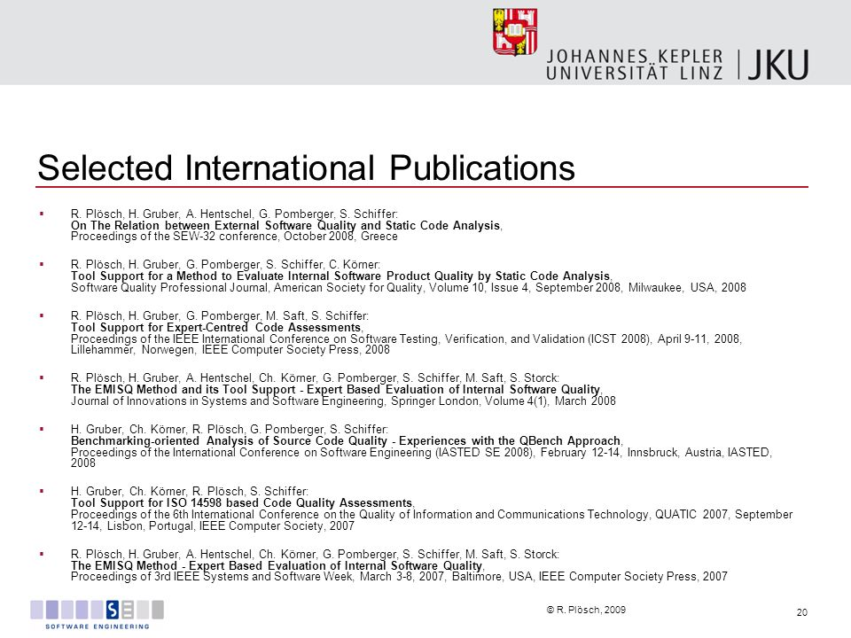 Selected International Publications